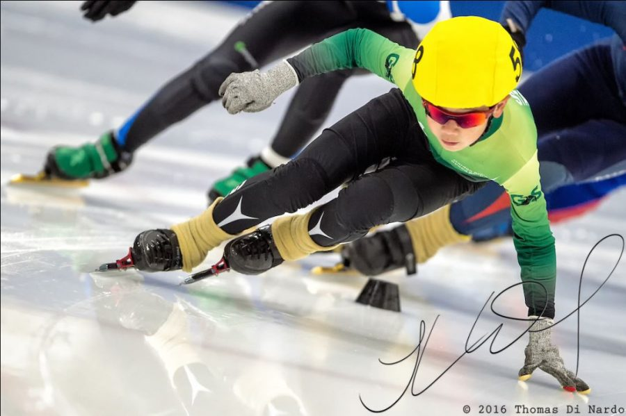 Justin Liu, skater number 58 - US Speedskating Short Track Age Group Nationals - AmCup Final